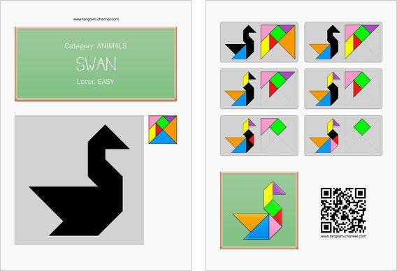 tangram worksheet 16  swan  this worksheet is available