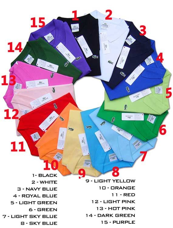 Brand new a lot of 10 Men Lacoste Polo Shirt You buy 10 polo shirts