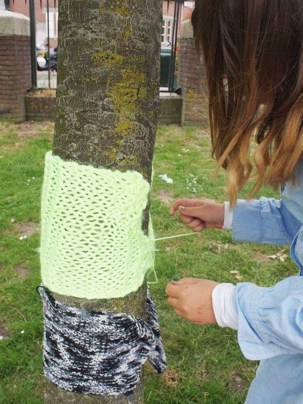 Wildbreien met Atelier Braakmans Van Beuningen! Naschoolse activiteit 'Lol met Wol' 2015