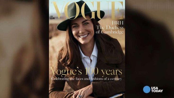 Sambata seara, editorii de la Vogue, au dezvaluit, pe site ul revistei, coperta lunii iunii, infatisand-o pe Kate, zambitoare, cu o palarie verde, sacou maro si bluza alba, fotografiata intr-o loca…