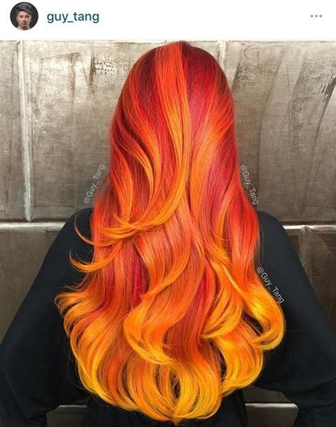 Fire Hair Inspired by Guy Tang appreciated by www.extensionsofyourself.com