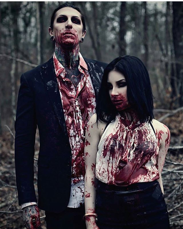 All these people keep saving this pin as halloween makeup and what's funny is they have no idea who the man in this is and if they did, they might think twice xD  Chris Motionless of Motionless in White: a hardcore  black metal band, not a makeup model