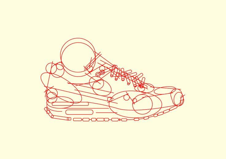 Phase 1: Nike Airmax 1 Illustration