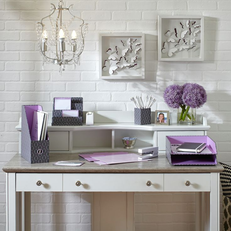 See Jane Work For Office Depot Charlotte Desk Looks Great With Grey