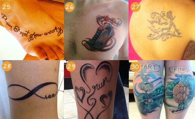 Tatuagens de corrida - Corre Mulherada