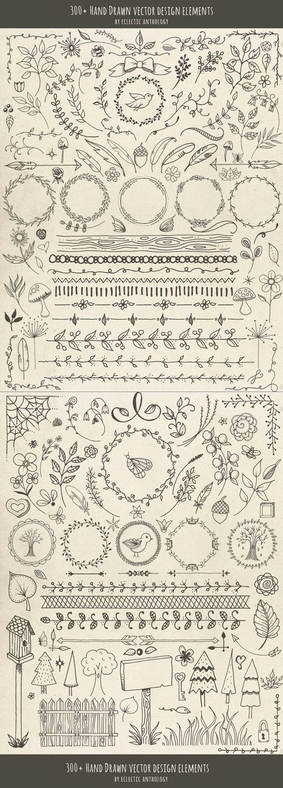 Hand Drawn Woodland Whimsy Vector Graphics by EclecticAnthology