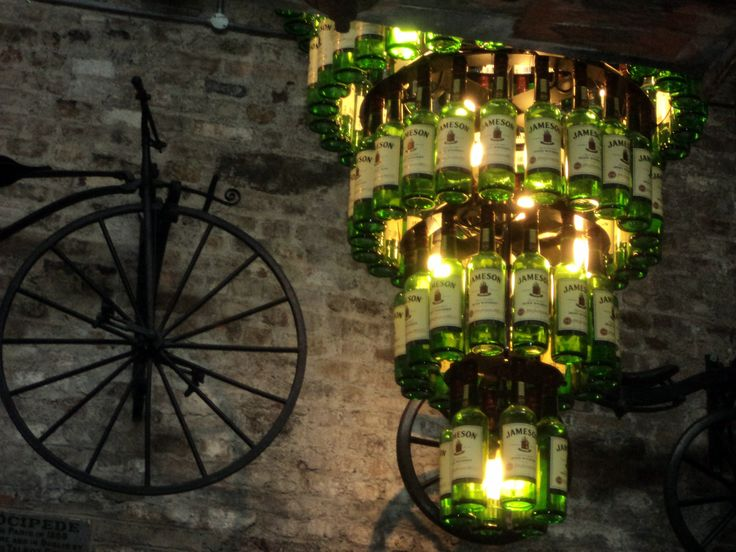 Artistic decor at the Jameson Factory in Dublin!