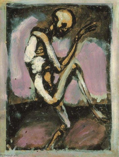 georges rouault paintings | Georges Rouault >> Danse Macabre (The Skeleton Laboureur) | (, artwork ...