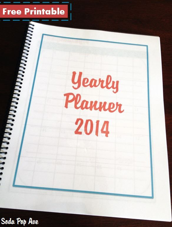 Get your free 2014 yearly planner here! It is perfect for getting organized and includes monthly calendars, To Do lists, grocery shopping lists, back to school shopping, and Thanksgiving and Christmas shopping lists too! www.SodaPopAve.com