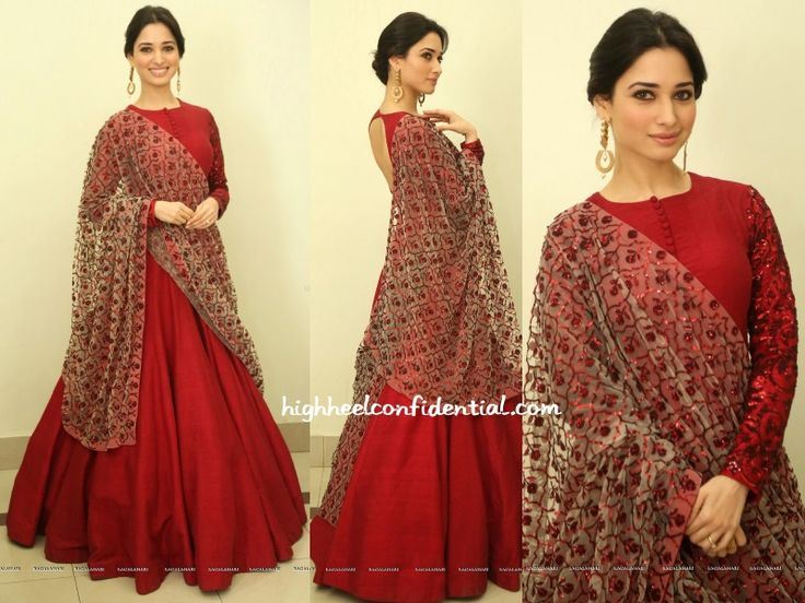 Tamannaah was seen in a Mayyur Girotra at the audio launch of Speedunnodu that took place in Hyderabad on Friday. Letting the burgundy anarkali be the highlight, her look was finished out with Suhani Pittie earrings and a simple updo. She looked good! Photo Credit: Ragalahari.com More guilt readingIn Reeti ArnejaIn Rimple & Harpreet NarulaIn …