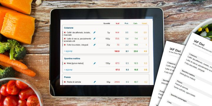 IAF Diet: calculate your Diet online With IAF Diet you can calculate the macronutrients in your #diet for free and in real-time, choose the food products, the amount and print.