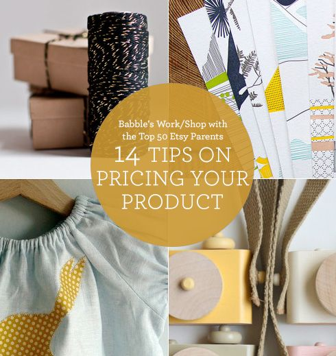 Want to Start a Business? 14 Tips from Etsy Parents on Naming Your Price #pricing