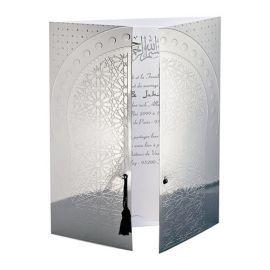 Faire-part Mariage Oriental Porte de l'Orient Miroir Réf. : J0073
