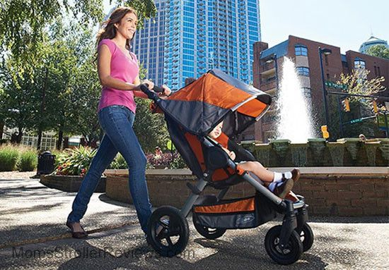 BOB Motion  One-Hand, Quick-Fold Lightweight & compact aluminum frame  Four pneumatic tires mounted on high impact polymer composite wheels with tubes provide a smooth, comfortable ride  With the included CLICK & GO adapters, the Motion instantly becomes a complete travel system with matching BOB B-SAFE Infant Car Seats or any BRITAX Infant Car Seat using CLICK & GO (infant car seats sold separately).