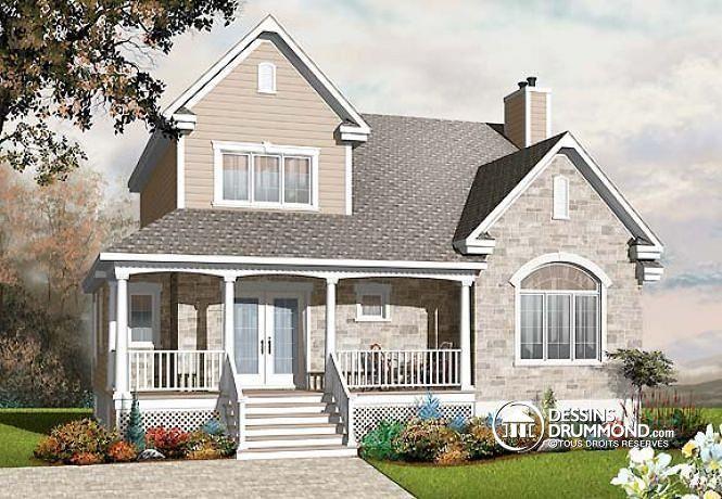 Plan de maison no. W2759-V1 de dessinsdrummond.com
