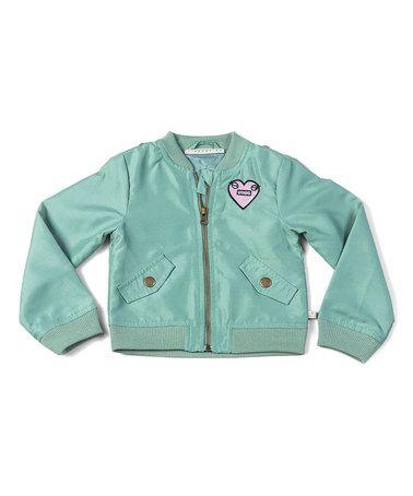 Loving this Green Bomber Jacket - Toddler & Girls on #zulily! #zulilyfinds