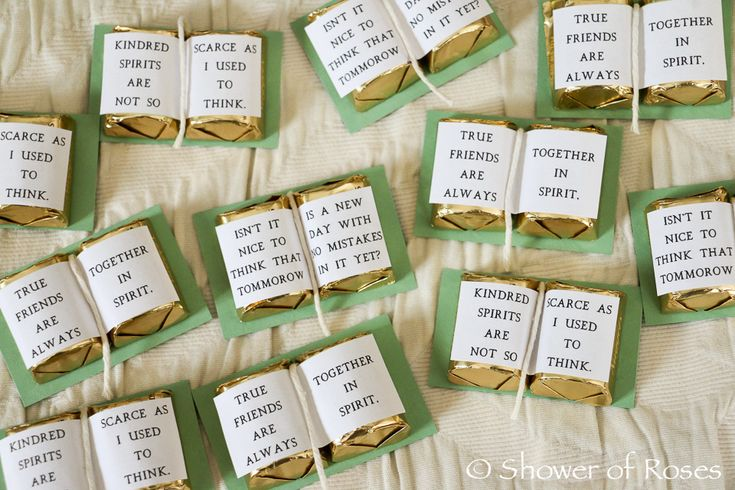 Shower of Roses: Anne of Green Gables Chocolates {Free Printable}
