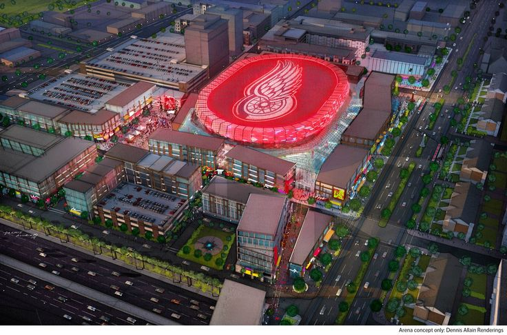 Renderings show what the new Red Wings Arena could look like in 2017. (USATSI)