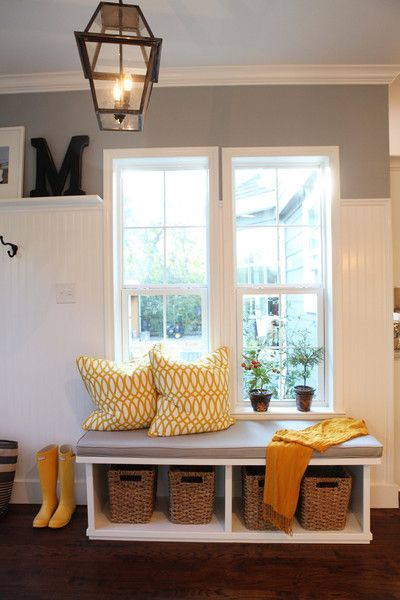 Joanna Gaines's Blog | HGTV Fixer Upper | Magnolia HomesProduct info: Chandelier-Shades of Light, Pillows- Villas Pillows Paint Color: Sherwin Williams Uncertain Gray with Pure White trim