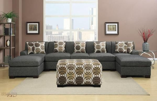 Hayward Large U Shaped Sectional Sofa In Linen U Shaped Sectional Sofa U Shaped Sectional Living Room Sectional