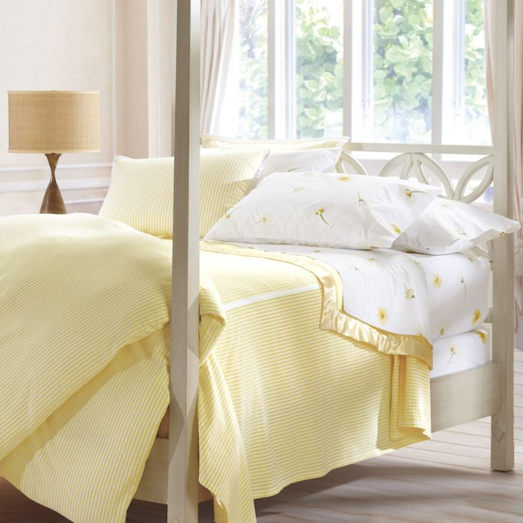 Classic Seersucker Duvet Cover Home Decor Yellow