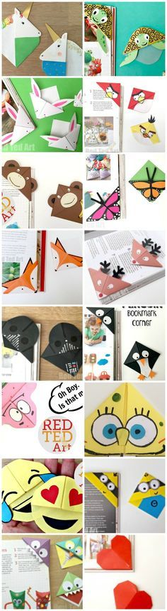 Oh wow, so many fantastic Bookmark Corner designs - one basic craft.. so many fabulous designs and variations. We do love Corner Bookmarks, such an easy paper craft for kids!