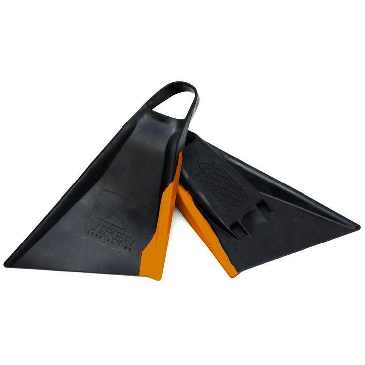 Viper Delta Bodyboard Fins - Black/ Orange Your Local Bodyboard Shop - Australia & Worldwide