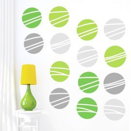 Sticker decorativ Green and Grey