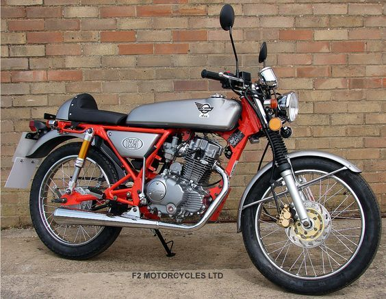 Skyteam Ace 125 with air shocks, chrome sports exhaust re-jet and engine tidy by F2 Motorcycles Ltd. Find out more www.f2motorcycles...