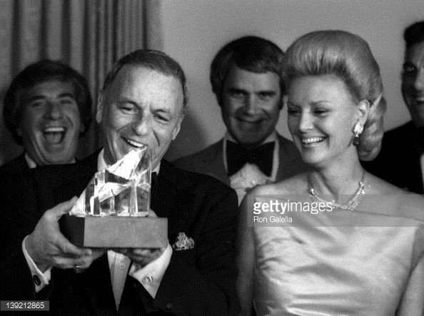 Frank Sinatra and wife Barbara Sinatra attend Frank, His Friends and His Food Valentine Love-In on February 15, 1980 at the Canyon Hotel in Palm Springs, California.