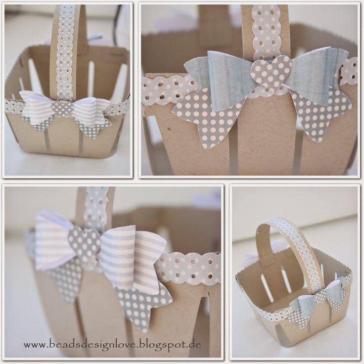 beadsdesign     ♥♥♥♥    love: Osterkörbchen und Blog Candy Gewinnerin, Schleifen Stanzen, Stampin up