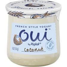 Oui French Style yogurt by Yoplait - Coconut