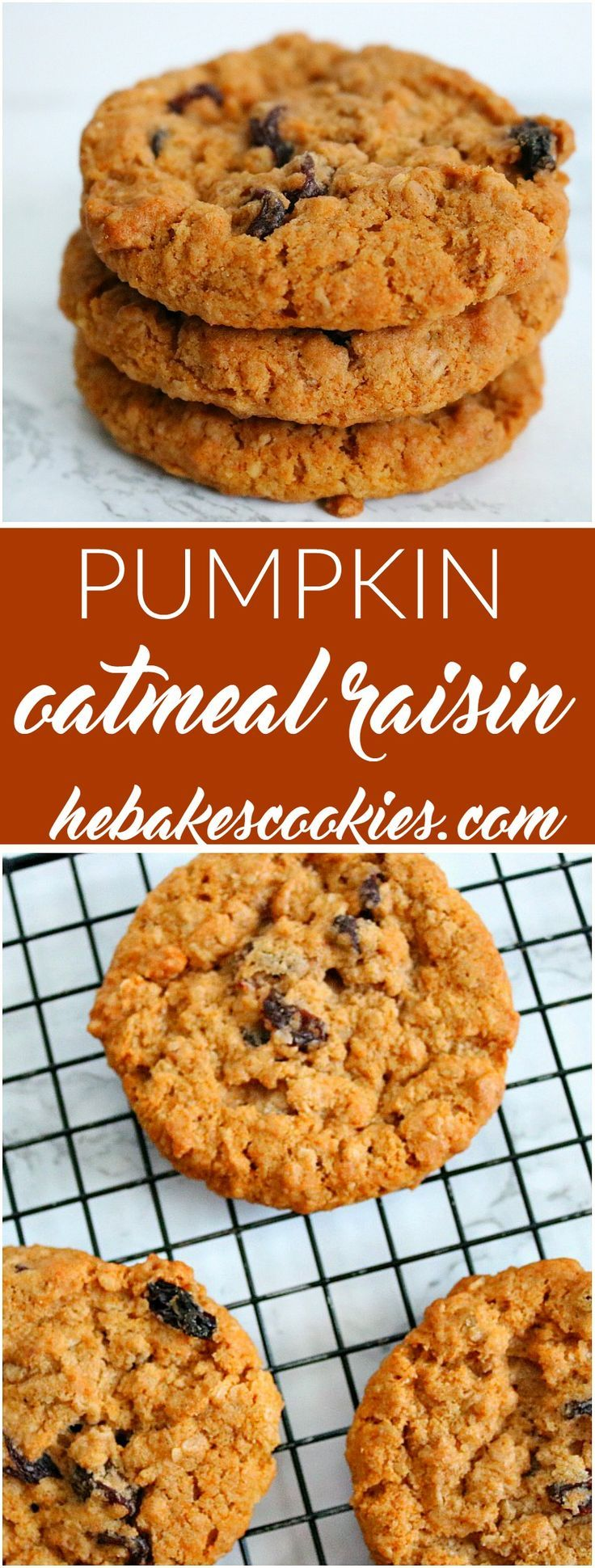 If you like pumpkin and oatmeal raisin cookies, you will love this mash up…