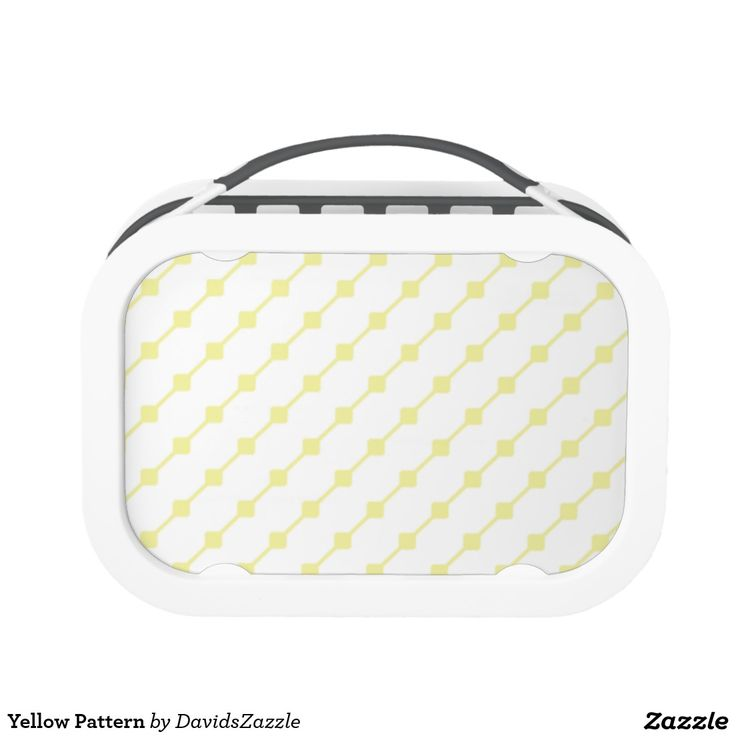 Yellow Pattern Lunch Box  Available on many more products! Type in the name of this design in the search bar on my Zazzle products page!   #abstract #art #pattern #design #color #accessory #accent #zazzle #buy #sale #kitchen #dining #home #decor #entertain #serving #guest #food #foodie #apartment #dorm #student #accent #living #modern #chic #contemporary #style #life #lifestyle #minimal #simple #plain #minimalism #square #line #white #yellow