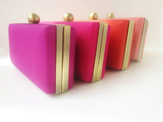Ombre clutch purse set