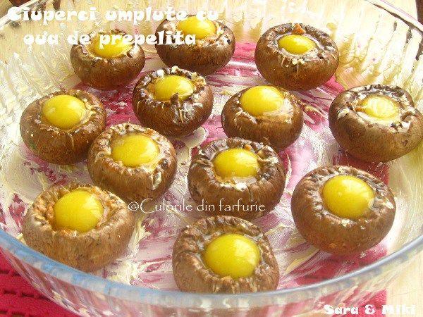 » Ciuperci umplute cu oua de prepelitaCulorile din Farfurie