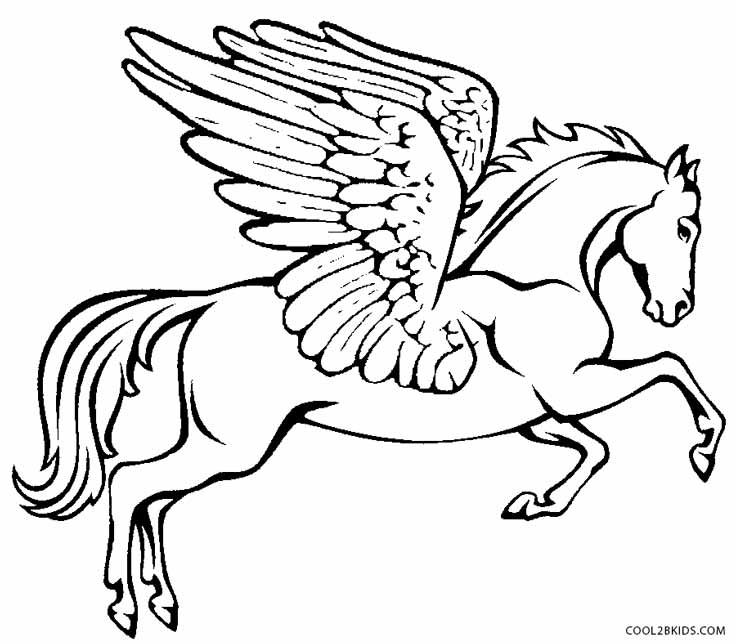 pegasus coloring page - 17 best images about fairy tale and mythology coloring