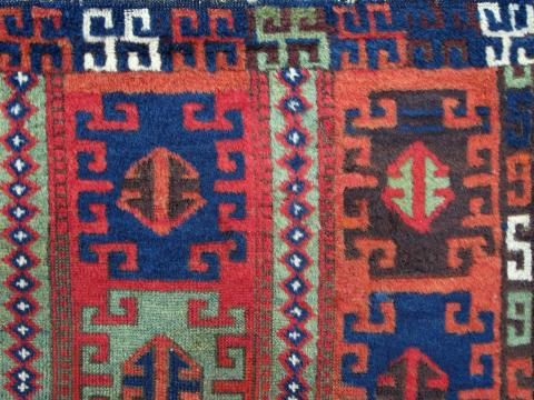 East anatolian small rug(detail). Exhibitor Mark Berkovich. More news about the Antique Rug & Textile Show in San Francisco 2014