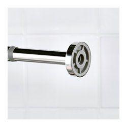 Die Duschstange lässt sich dank des Federmechanismus ohne Schrauben und Bohrlöcher einfach und sicher anbringen. Eine Kunststoffhülse egalisiert den Übergang der Teleskopstangen - so gleitet der Vorhang leicht darüber und lässt sich einfach auf- und zuziehen. Kunststoffkappen an den Enden sorgen dafür, dass Wände und Kacheln unbeschädigt bleiben. Aus robustem Edelstahl, leicht zu reinigen. Einfach ausziehbar von 120 bis 200 cm.
