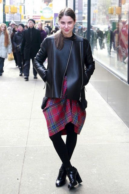 Dorota Rasberrrt: MODA : Spódnice zimą - Zobacz jak noszą je w zimne...