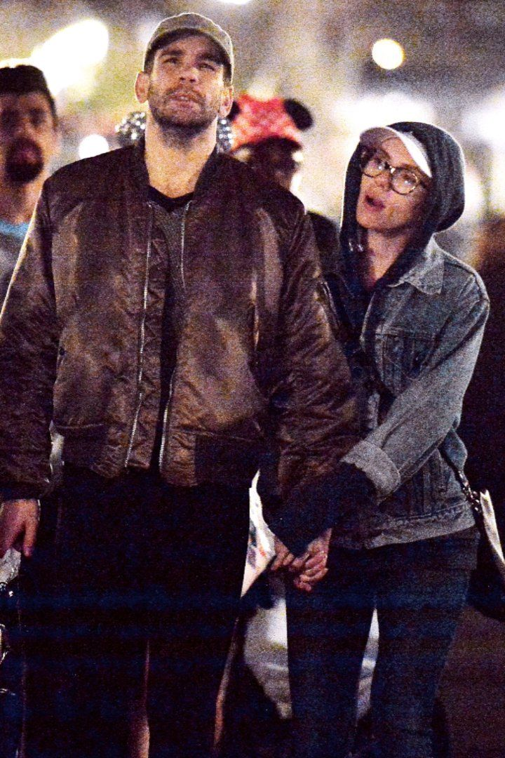 Scarlett Johansson Has a Magical Date at Disneyland With Her Husband