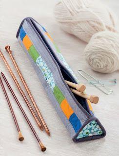 Knitting needle case. Tutorial.