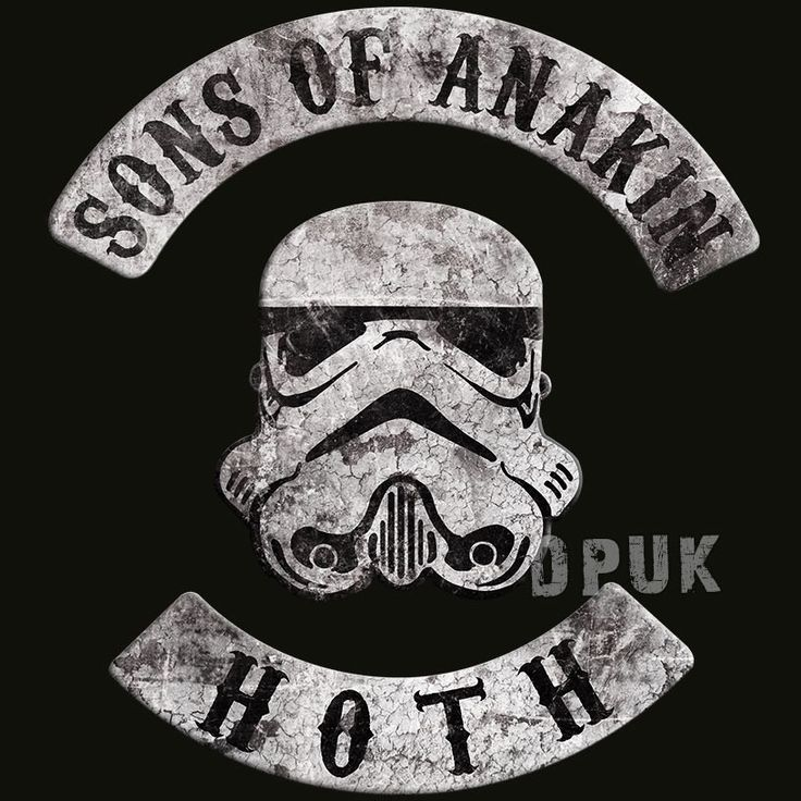 """Sons Of Anakin - Star Wars T Shirt - With the popularity of MC club patches at an all time high due to the ongoing success of TV shows like Sons Of Anarchy, this T Shirt is ideal for any Star Wars movie fan!The back of this t shirt features the club name """"Sons Of Anakin"""" and club charter location """"Hoth"""" - which makes this one for the real sci-fi freak who know's their stuff! Anakin being the name of Darth Vader before he turned to the dark side, and Hoth being the ice planet the Empire ..."""