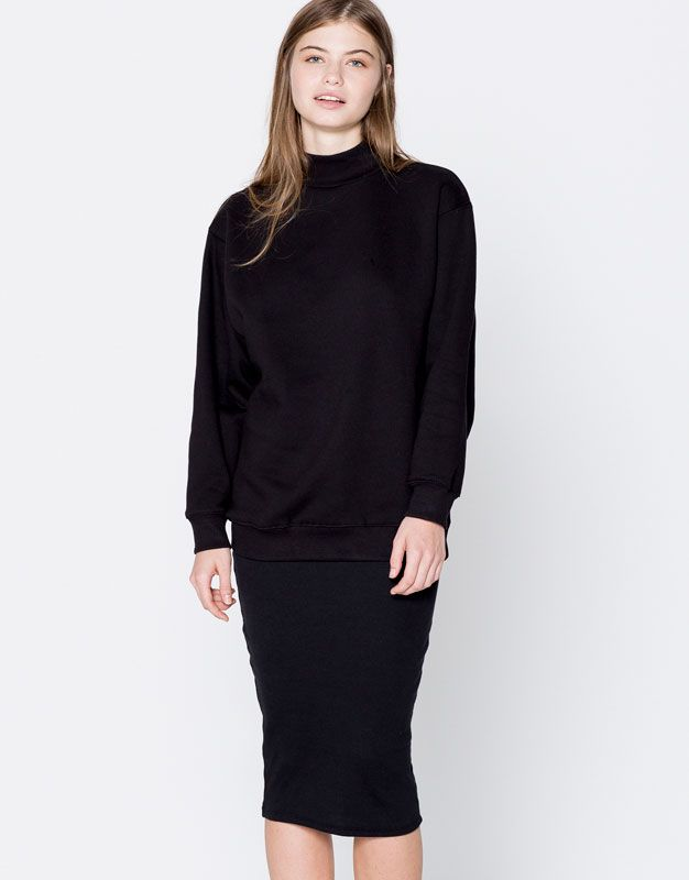 Wide sleeve sweatshirt - Basics - Clothing - Woman - PULL&BEAR Poland