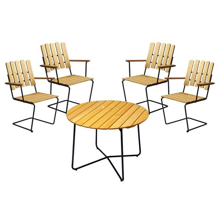 Grupp Grythyttan - 4 st A2 + bord 100 i gruppen Utemöbler / Utemöbler / Grupper hos RUM21.se (102337r)