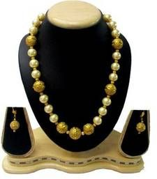Buy Antique Pearl Ball Mala Necklace women jewellery necklace-set online