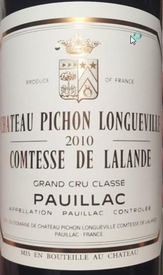 2010 Château Pichon Longueville Comtesse de Lalande