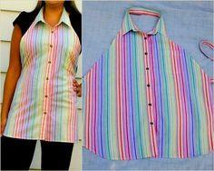 Фартук из мужской рубашки