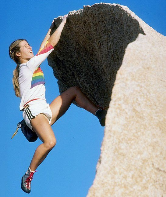 Lynn Hill - Hill was the first person to free climb The Nose — a popular climbing route in Yosemite Valley with an elevation gain of 2,900 feet.