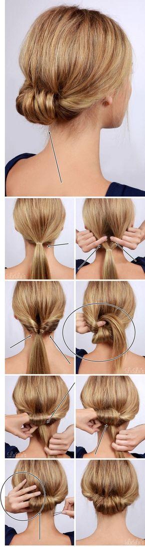 18 Hochsteckfrisuren Kurze Haare Selber Machen | Bob Frisuren